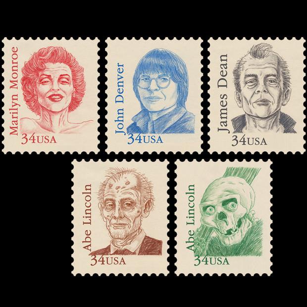 Dead Celebrities Stamps