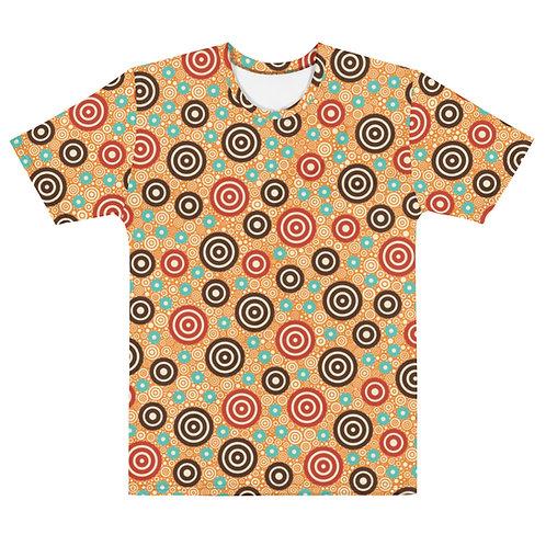 Men All Over Aztec Warrior T-Shirt Gold