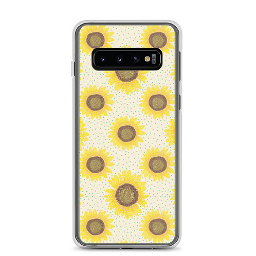 Sunflower Polka Dots Samsung Phone Case