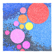 """Pen & Ink Abstract - """"Circles In Space"""""""