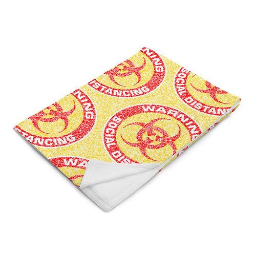 Social Distancing Throw Blanket Yellow