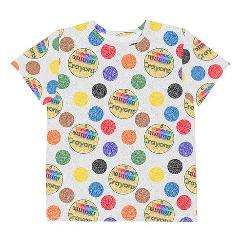 Youth All Over Crayon Polka Dots T-Shirt