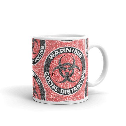 Social Distancing Mug Red