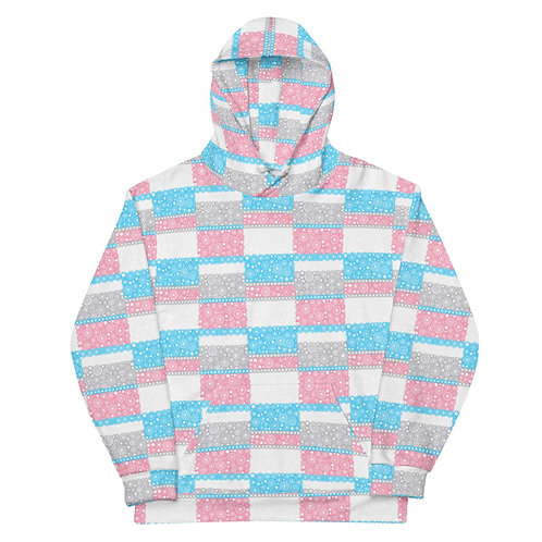 All Over Unity Hoodie Blue And Pink