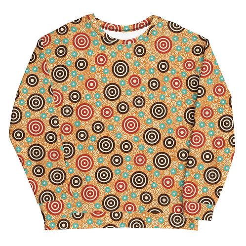Aztec Warrior Sweatshirt Gold