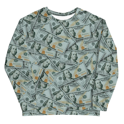 100 Dollar Bills Sweatshirt