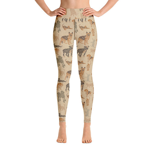 Women Yoga Cats And Dogs Leggings
