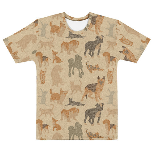 Men All Over Cats And Dogs T-Shirt