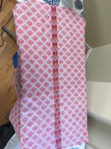 Back seam of vest