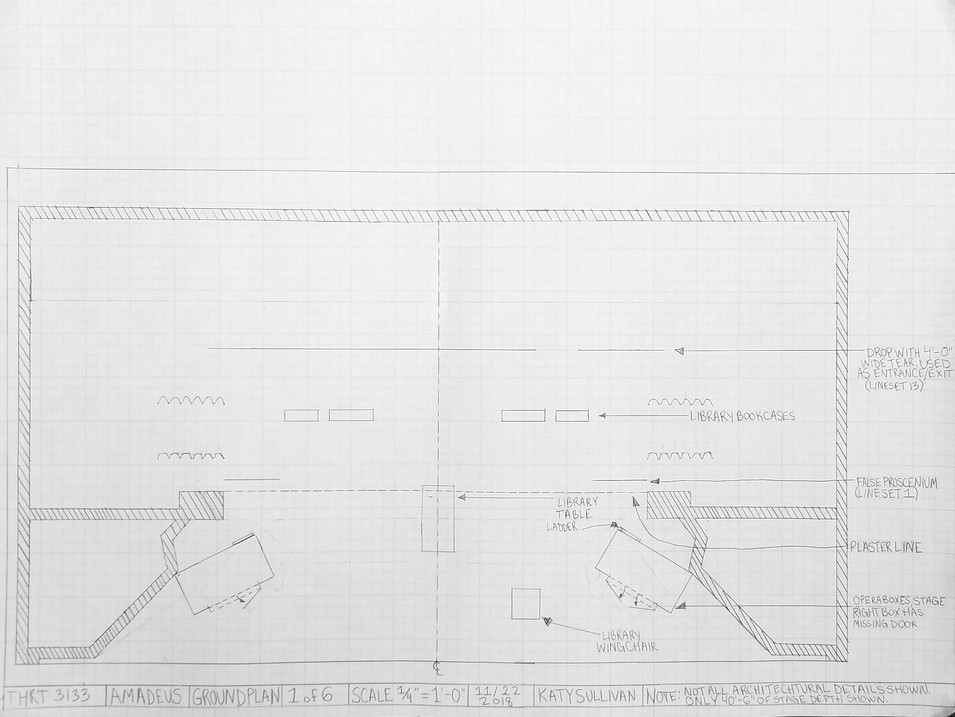 Hand Drafted Groundplan