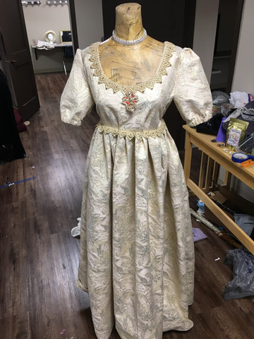 Completed dress for the Queen of Transylvania