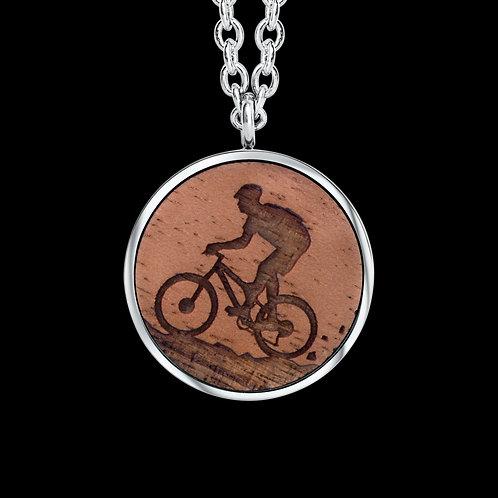 Mountainbike Holz Halskette mit Kristallen von Swarovski®