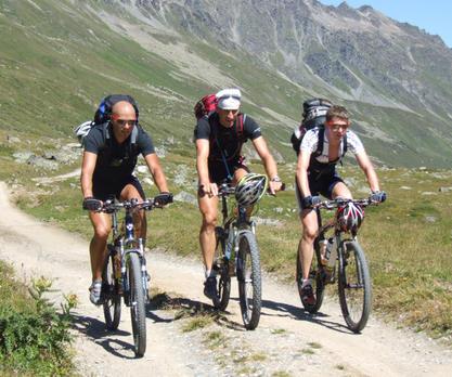 Organisierter Mountainbikeurlaub Transalp