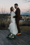 Brautpaar bei Winterhochzeit im Mühlviertel