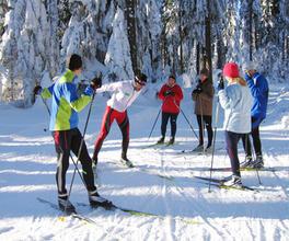 Singleurlaub im Winter   Langlauftraining