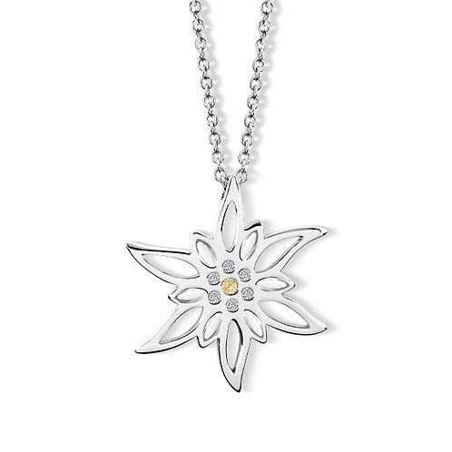 Simone Edelweiss Halskette mit Kristallen von Swarovski®
