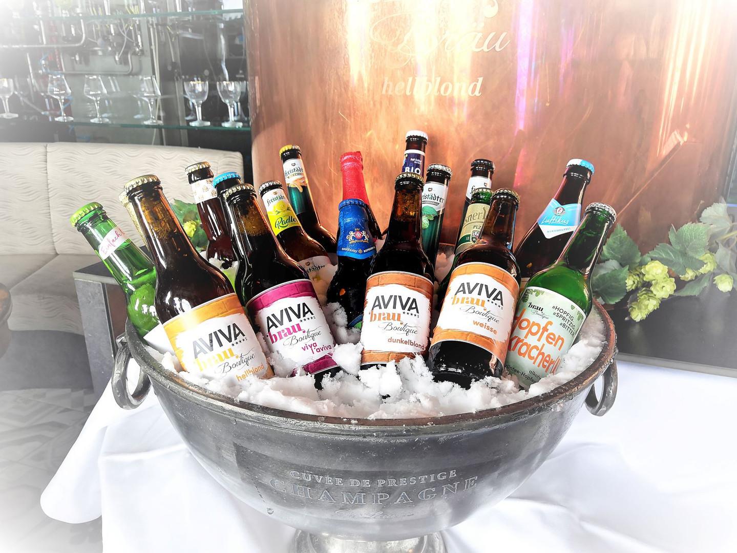Biersorten der AVIVA Brau-Boutique