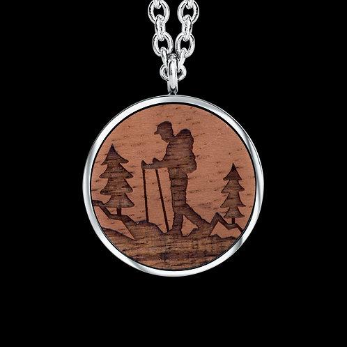 Wanderer Holz Halskette mit Kristallen von Swarovski®