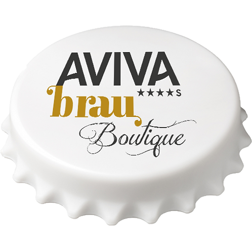 Bieröffner Kronkroken Kühlschrankmagnet AVIVA Brau-Boutique