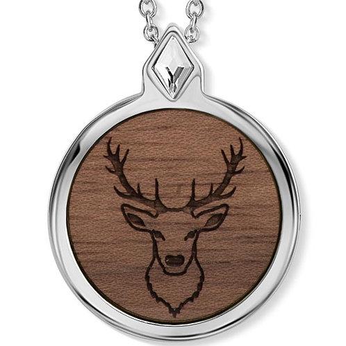 Wood Deer Halskette mit Kristallen von Swarovski®