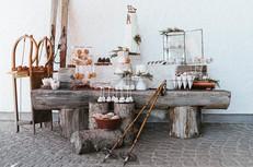 Sweet-Table vor der AVIVA Alm | Heiraten in Oberösterreich
