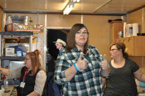 Thumbs up in the concession!