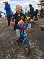 Kid's rodeo prize winner