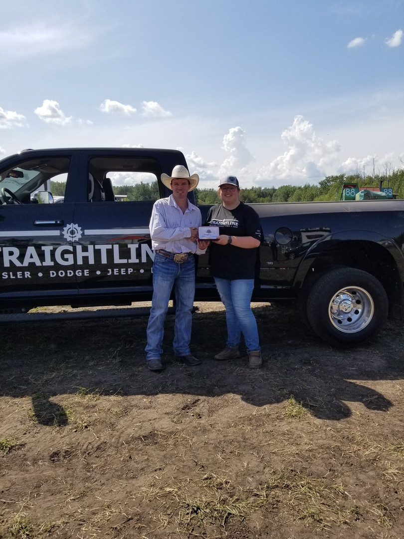 Belt buckle presentation from Straightline Dodge