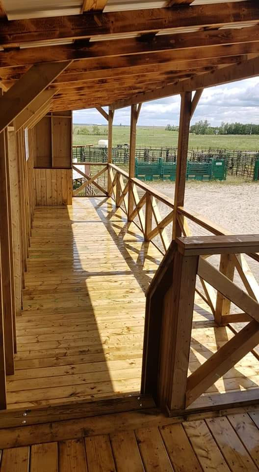 VIP viewing area for riding arena