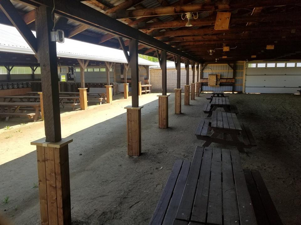 Inside barns