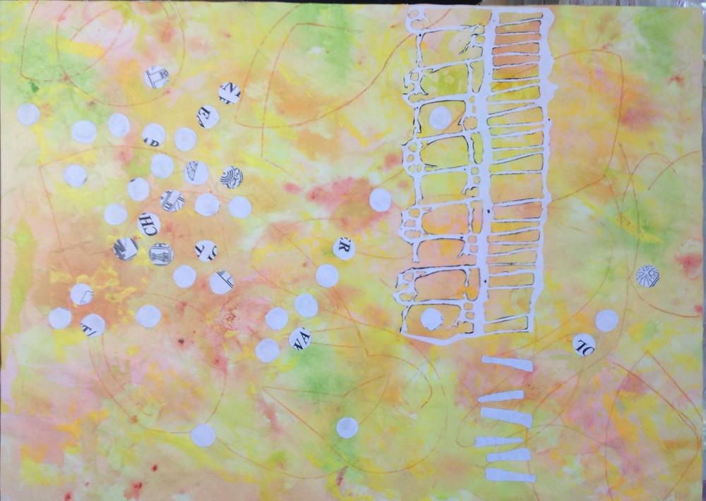 using stencils in art