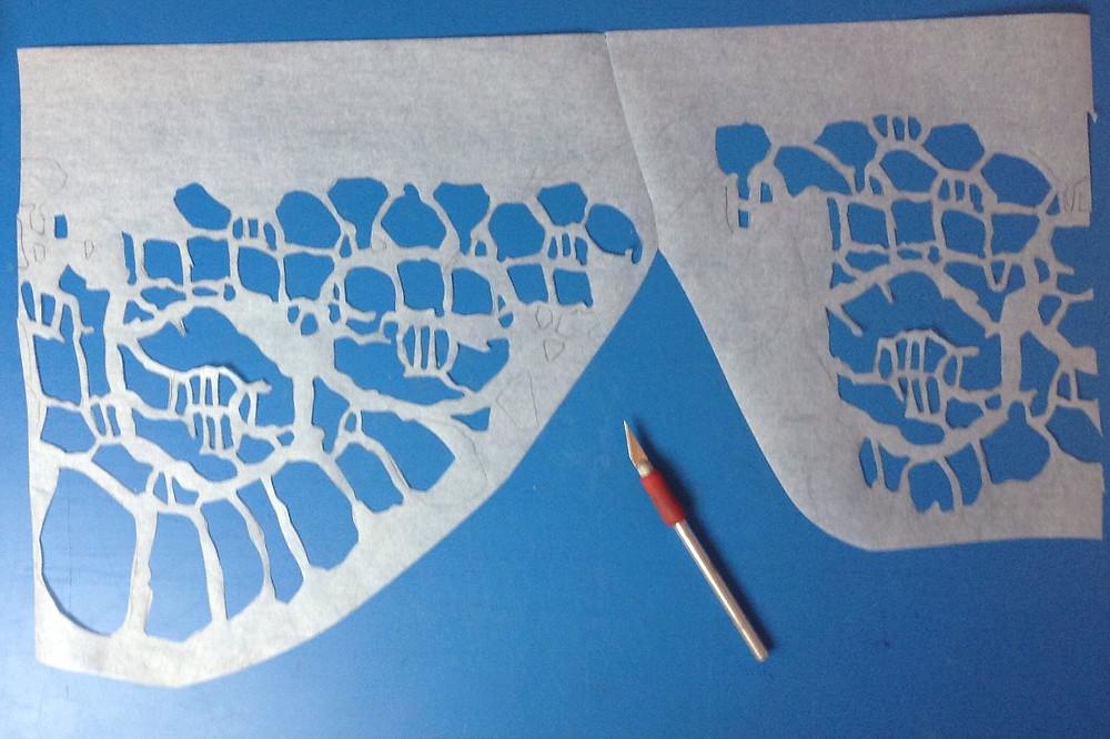 cut paper stencil