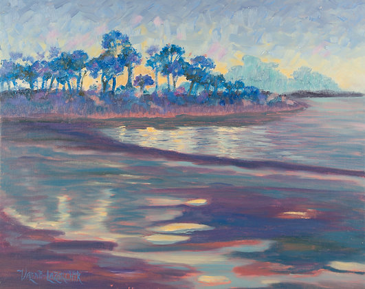 Twilight Tide - 20 x 16 - Oil on Canvas Panel