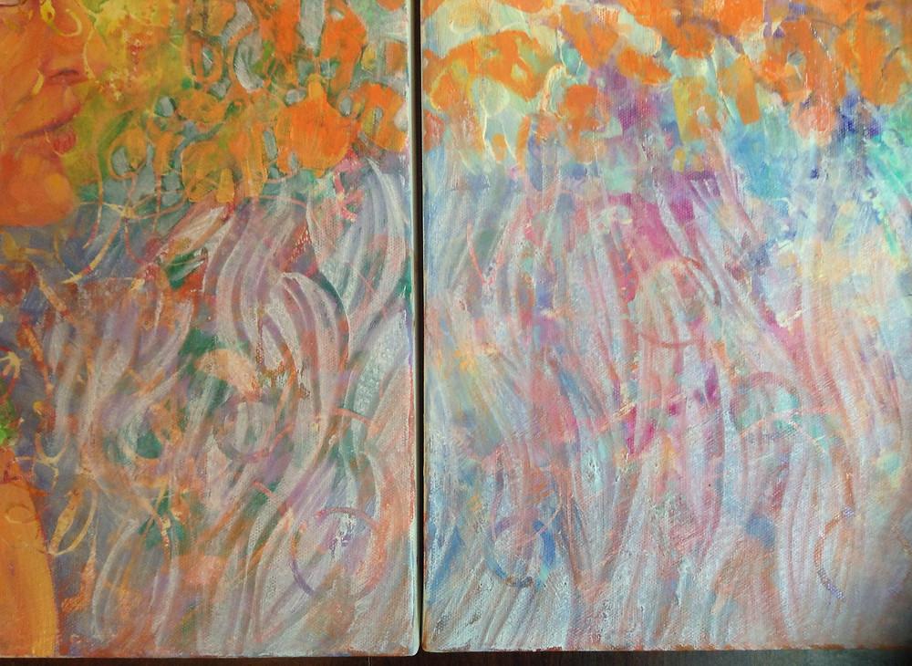 layering oil paint
