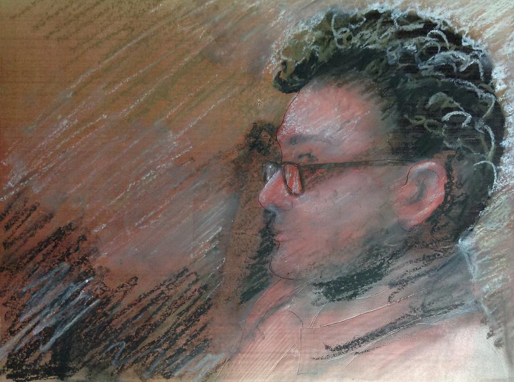 pastel portrait drawing