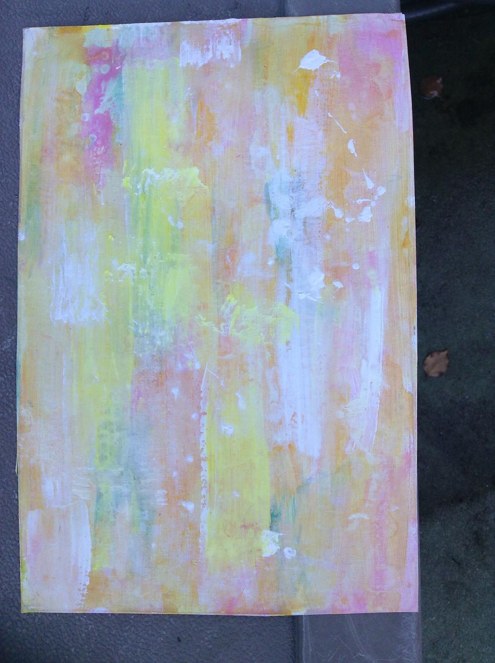 painted acrylic wash