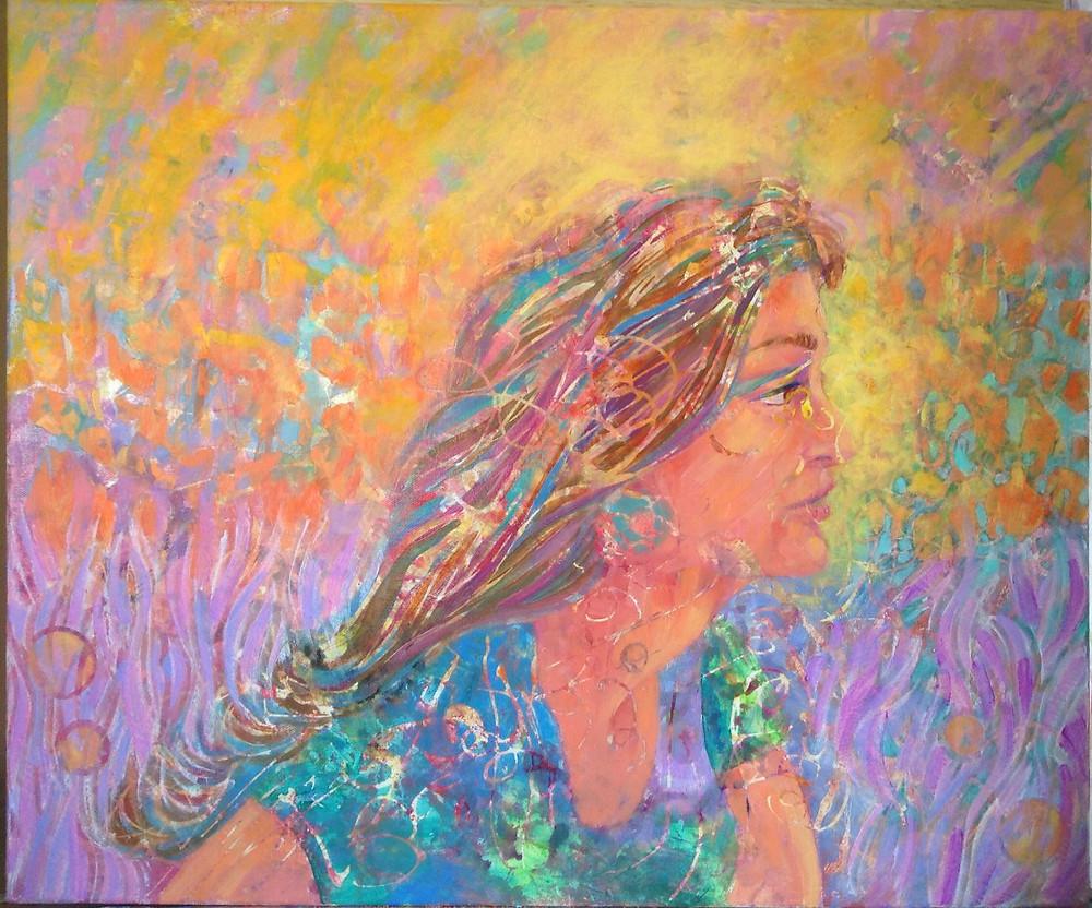 bold color portrait