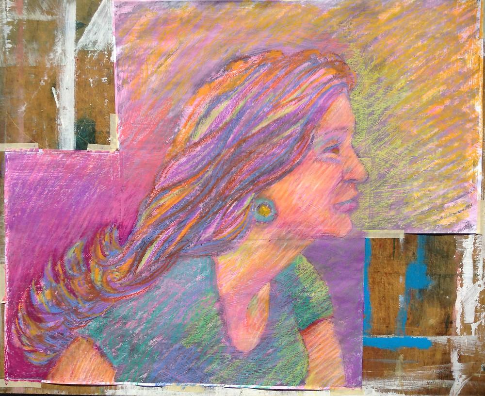 modern pastel portrait