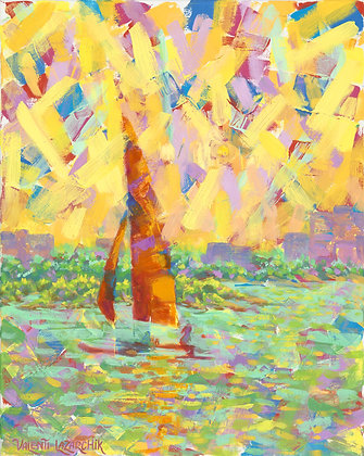 Kaleido Cat - 16x20 - Oil on Canvas