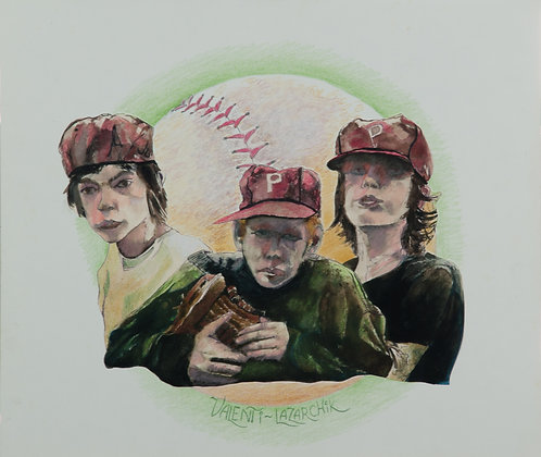 The Boys of Summer - 14 x 12 - Watercolor