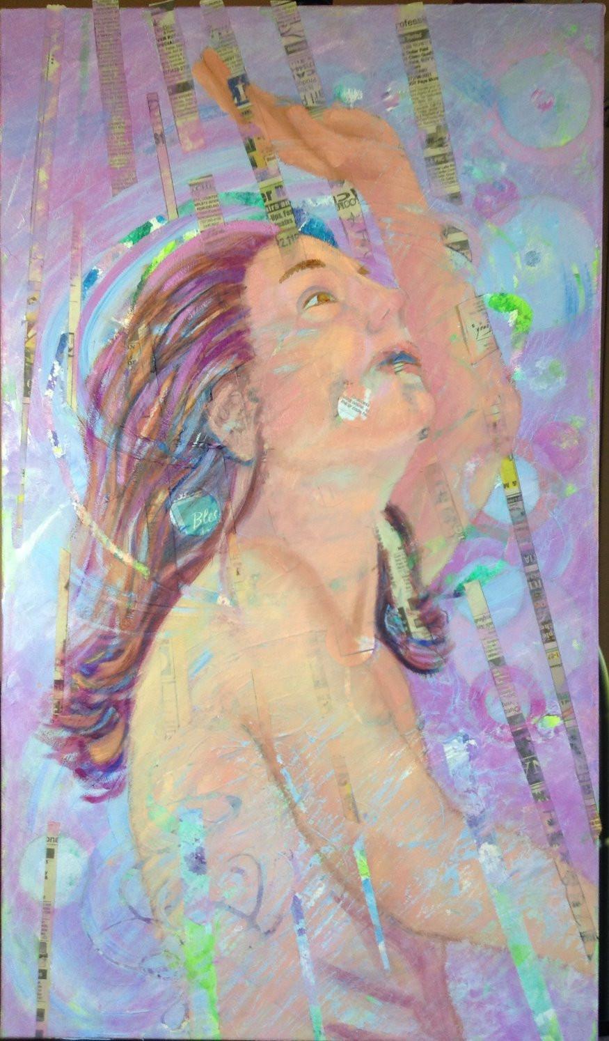 cold wax artwork