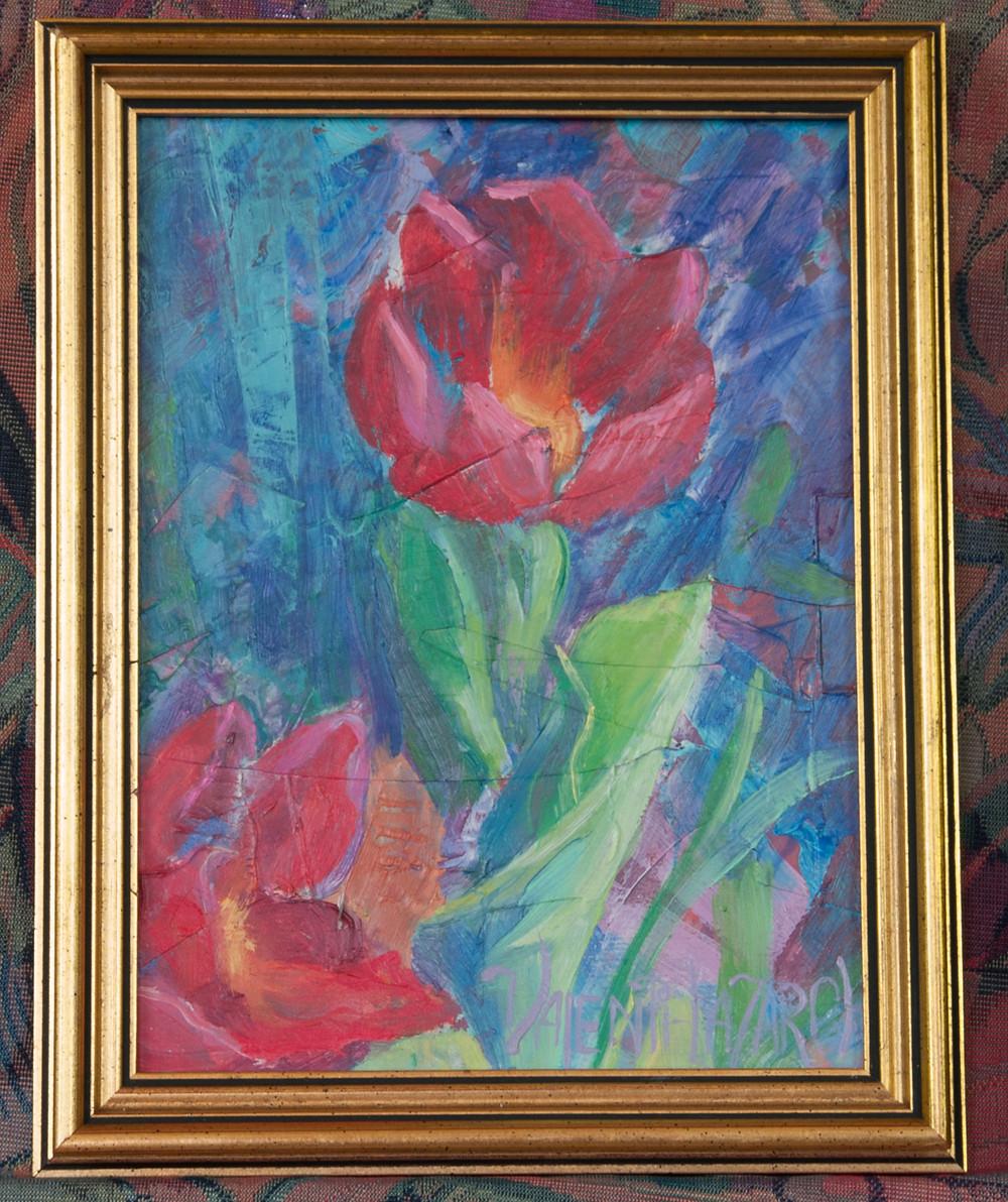 modern tulip painting
