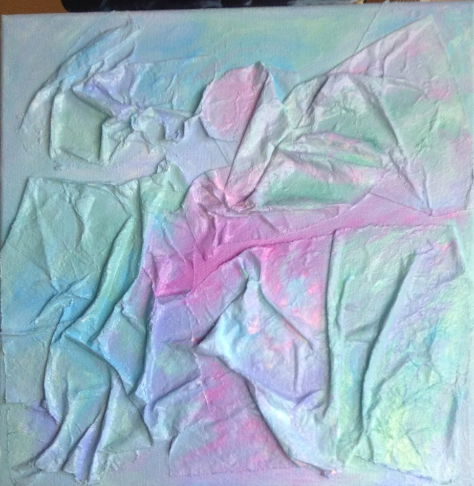 highly textured abstract art