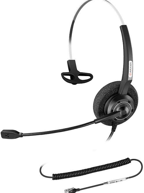 Arama Yealink Phone Headset with Enhanced Noise Canceling Mic