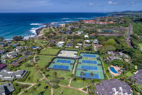 Tennis Courts Aerial View