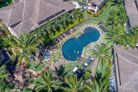 Swimming Pool Aerial View