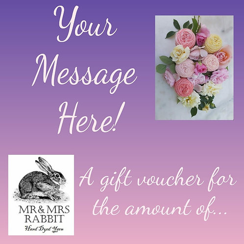 Mrs Rabbit's Gift Voucher