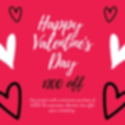 Red Valentine Countdown Social Media Pos