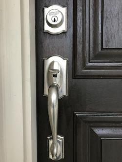 Front Door Hardware/Stain