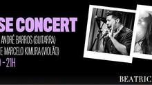 THAÍS MOTTA + ANDRÉ BARROS TÁRCIO CARDO + MARCELO KIMURA House Concert dia 11/julho